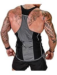 c8329c1e5a4cf5 Harri me Men s Muscle Gym Fitness Y Back Stringer Tank Tops Bodybuilding  Workout Sleeveless Vest Shirts