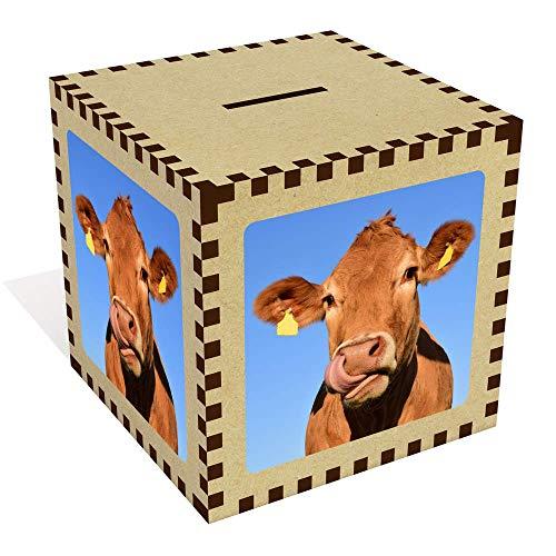 Azeeda Grande 'Cara Vaca' Caja Dinero / Hucha MB00015460