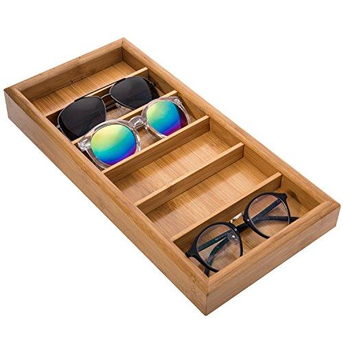 MyGift Sonnenbrillen-Aufbewahrungstablett für 6 Sonnenbrillen