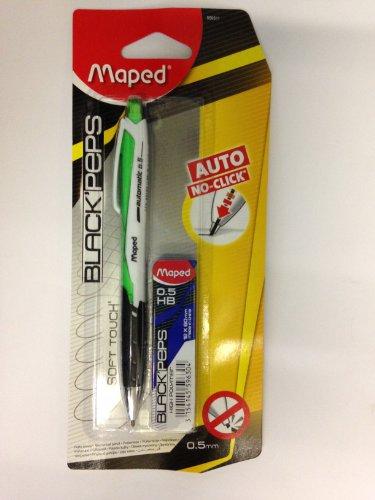 Maped Nero 'Peps automatico non Clicca matita meccanica, 0,5mm, colore: verde - Auto Advance Portamine