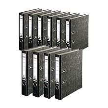 FALKEN Recycling Plus Lever Arch Files, A4, 5cm Spine - Black, Pack 10