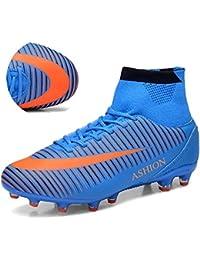 ASHION Zapatos de fútbol para hombre FG Botas de fútbol para niños Zapatillas de fútbol para niños