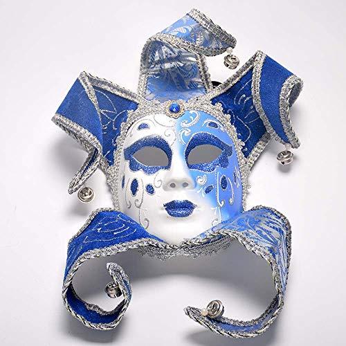 YCWY Vintage venezianische Maskerade Masken, Vollgesichtsmaske handgemachte Luxusmaske Halloween Cosplay Maske Karneval Kostüm