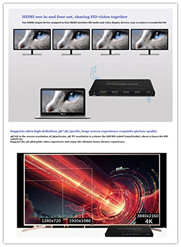 HDMI Splitter One In Four Out Support 4K 3D