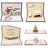 15Pcs Cartes de Voeux, ARTISTORE 3D Pop-Up Cartes Postales, Multi-modèle Cartes de Noël Cartes d'anniversaire Décorées pour Une Personne Spéciale et Une Occasion Importante