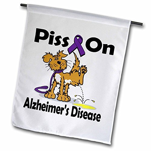 wenyige8216Piss auf Alzheimer-Krankheit Bewusstsein Band verursachen Design 30,5x 45,7cm, dekorative doppelseitig Garten Flagge