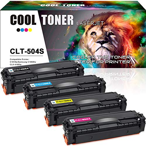 Cool Toner Compatible per Samsung CLT-K504S CLT-C504S CLT-M504S CLT-Y504S Toner K504S per Samsung CLX-4195FN SL-C1810W SL-C1860FW CLP-415N CLP-415 CLP-415NW CLX-4195 CLX-4195N CLX-4195FW C1810w