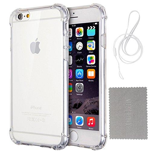 """Hülle für iPhone 7/8, xhorizon Transparente Handyhülle mit Hartplastik und weicher TPU Gel zum Schutz vor Stößen für iPhone 7 / iPhone 8 [4.7""""] #1"""