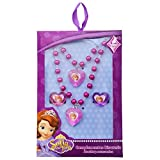 Girls 4 Piece Jewellery Set Sofia The First Princess Bracelet Necklace Ring Pink