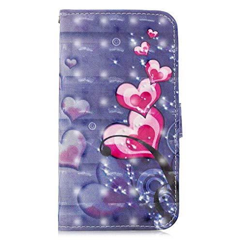 Bear Village® Hülle für Apple iPhone 7 Plus/iPhone 8 Plus, Magnetisch Adsorption PU Klapp Hülle mit Standfunktion, Brieftasche Stil Schutzhülle, Violett 1