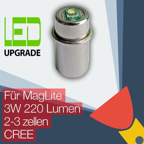 MagLite LED Upgrade Ersatz lampe Taschenlampen 2D/2C 3D/3C zellen CREE CNC -