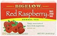 Bigelow Red Raspberry Herbal Tea, 20-Count Boxes (Pack of 6)