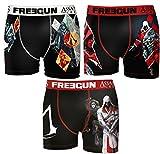 Freegun. Boxer Homme Assassin's Creed (S, Pack DE 3 asst2)