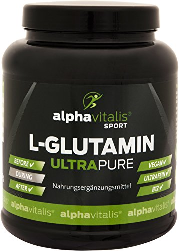 L-Glutamin ULTRAPURE - 1000g - vegan - glutenfrei - laktosefrei - feinstes L-Glutamin Pulver aus Deutscher Herstellung - alphavitalis SPORT®