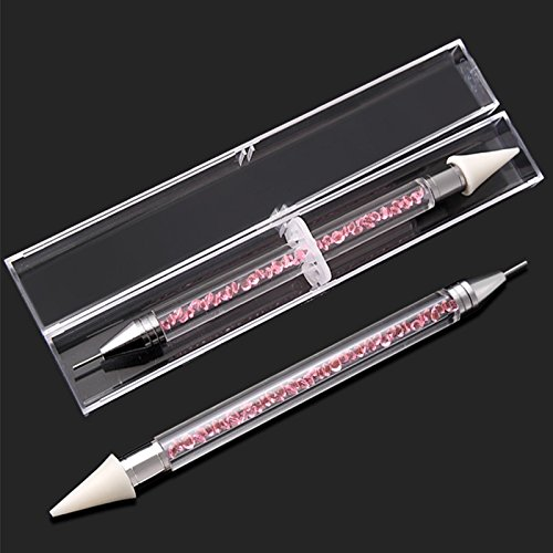 TiooDre DIY Diamond Painting Pen Tools Square Full Diamond Round Embroidery DIY Tools Rhinestone Mosaic Pictures Nail Art Double Head Pink