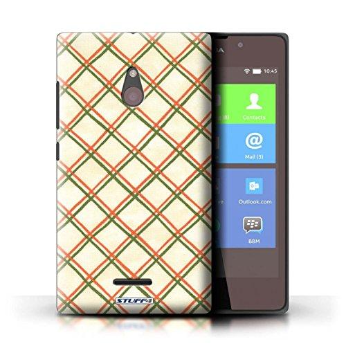 Kobalt® Imprimé Etui / Coque pour Nokia XL / Bleu conception / Série Motif Entrecroisé Rouge/Vert