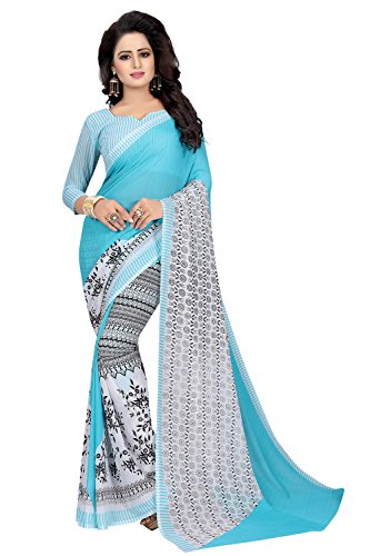 Macube Women's Clothing Sarees for women latest Color Georgette Sarees free size...