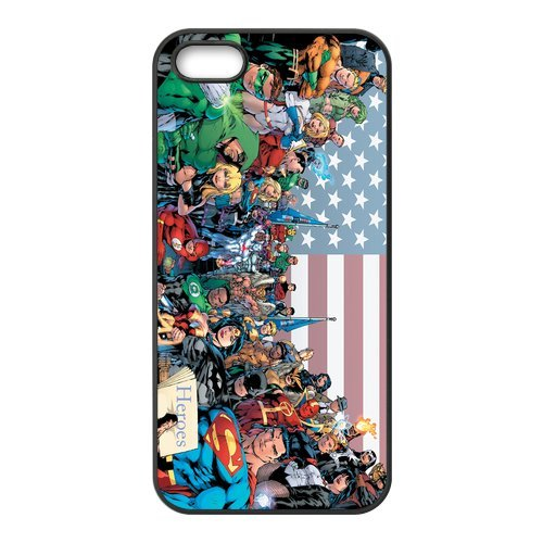 iPhone 5S Case, iPhone 5. The Avengers de Apple iPhone 5/iPhone 5S Case Coque de protection Case TPU Étui Coque de Protection pour iPhone 55S (Blanc/Noir)