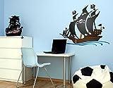 Klebefieber Wandsticker Piratenschiff B x H: 60cm x 48cm