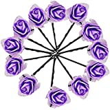 Fully Latest Designer Hair Pins For Women Party Wear (Purple), Pack Of 1