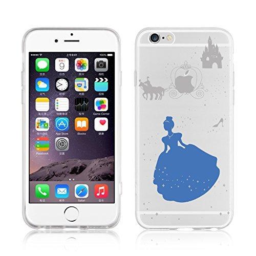 """iPhone 6 Hülle, JAMMYLIZARD Transparentes Sketch Back Cover aus Silikon mit Muster für iPhone 6 / 6s 4.7"""", KRATZENDE KATZE Aschenputtel"""
