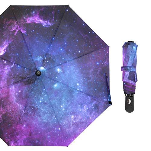 THJC Regenschirm Starry Sky Umbrella Male Vollautomatische Kompaktschirme Für Damen Winddicht Schnelltrocknender Taschenschirm