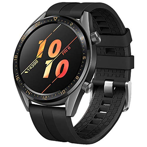 pour Huawei Watch GT Active 46mm Honor Magic Bracelet, Souple Silicone Adjustable Dragonne Mode Sport Montre Remplacement Bande, pour Huawei Watch GT Active 46mm Honor Magic (Noir)