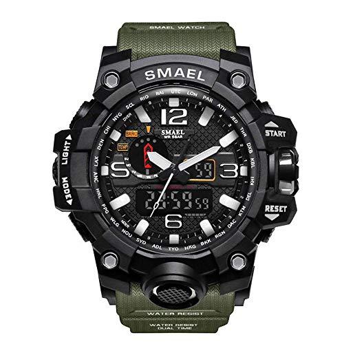 SMAEL Hombre Deporte Relojes Dual Display Analógico Digital LED Electrónico Wrist...