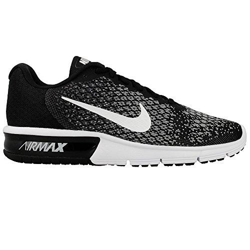 Nike Mens Air Max Sequent 2 Scarpe Da Corsa, Nero Nero ...