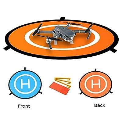 Hensych Fast-fold Landing Pad 75CM Double Side Use RC Drone Launch Pad with Storage Bag for DJI Mavic Air/ DJI Mavic Pro/ DJI Spark/ DJI Phantom 2 3 4 inspire 1 from HSYC Tech