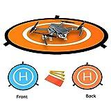 Hensych Fast-piega Landing Pad 75CM Uso doppio laterale RC Drone Launch Pad con custodia per DJI Mavic Mini / Air/DJI Mavic Pro/DJI Spark/DJI Phantom 2 3 4 inspire 1