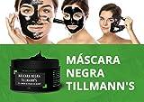 Mascarilla exfoliante para puntos negros. Máscara negra facial de carbón activado de bambú, limpiadora y exfoliante, elimina puntos negros y espinillas. By Tillmann.