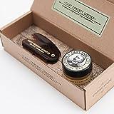 Captain Fawcett's - Cire à moustache (parfum bois de santal) & peigne à moustache de poche pliant...