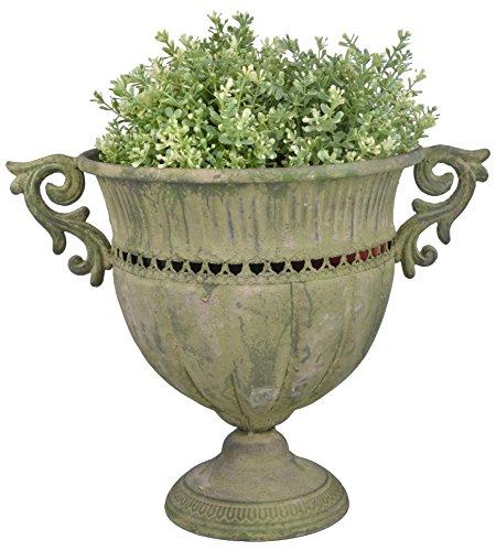 Esschert Design AM68rund Aged Metall Urne, groß, grün -
