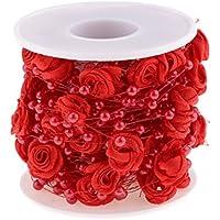 10 M Künstliche Rosen Perlengirlande Perlenband Perlenvorhang DIY Handwerk