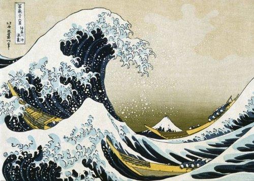 """Laminated Posters - Maxi poster con stampa artistica """"La grande onda al largo di Kanagawa"""", Katsushika Hokusai, dimensioni: 61 x 91 cm"""