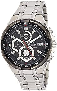 Casio Watch For Men Black Dial Stainless Steel Band - Efr-539D-1Avudf, Silver Band, Analog Display