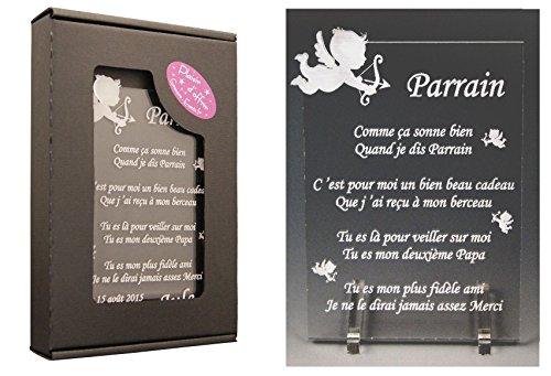 1 Poème Parrain - Ange (spécialiste des Cadeaux Parrain Marraine Baptême)