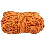 Milestone Camping Hi-Vis Guy Ropes (Packof 4) - Orange