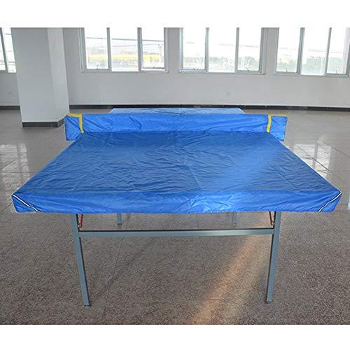 Blauer Outdoor-tischtennistisch (ZHANWEI Gartenmöbel Abdeckung Abdeckplane Schutzhülle Gartentisch Billardtisch Staubschutzhaube Tischtennis Tisch Wasserdicht Sonnencreme Oxford-Tuch Blau Plane (Farbe : Blau, größe : 152.5x274cm))