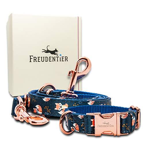 Freudentier Hundehalsband & Hundeleine (2m) für kleine… | 04260492260207