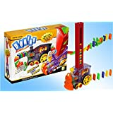 DOMINO RALLY TRAIN RACK THEM UP & KNOCK THEM DOWN Ideal gift for birthday, christmas any occasion for kids/ children training and fun at a time! by GBP INTERNATIONAL