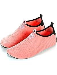 3c9beb2473c30 LANSEYAOJI Chaussures Aquatique Homme Femme Enfant Eté Léger Chaussures  d eau Séchage Rapide Pieds Nus Chaussures de Plage…