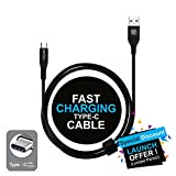 #6: Affix Type-C to Usb A Cable - 2.4 Amp Fast Charge, Data Transfer, Durable, high Speed Data Cable - Black
