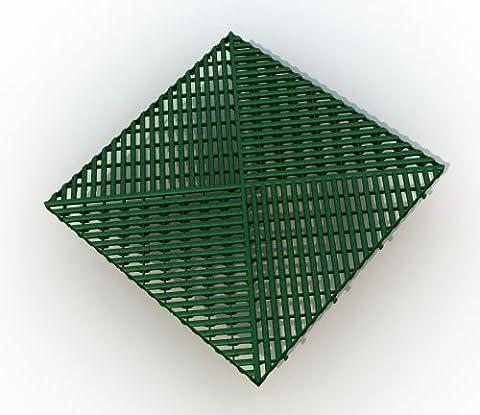 Bodengitter, Balkonfliese, Rasenfliese, Bodenrost 400 x 400 x 19 mm, grün