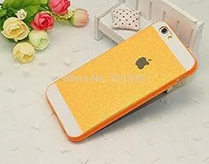 iPhone 6 Plus / 6s Plus -Shiny Bling Glitter Thin Hard Back Cover for iPhone 6 Plus & iPhone 6s Plus For Girls & Boys - Orange