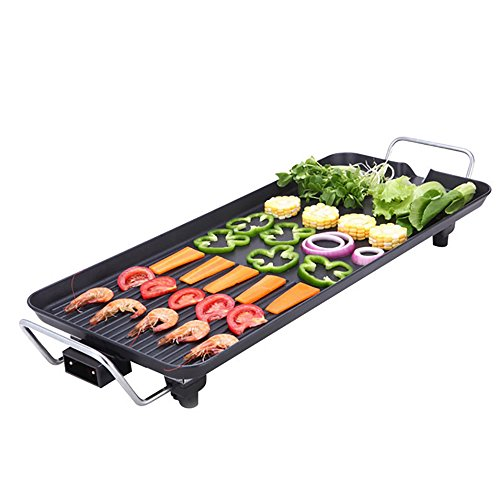 Teppanyaki Table Grill Indoor Kitchen BBQ Hot Plate Barbecue 40X23cm