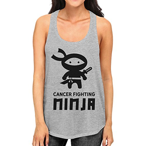 365 Printing Pull sans Manche - sans Manche - Femme Taille Unique Cancer Fighting Ninja
