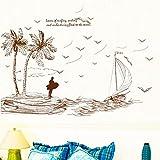 GZ-Wandaufkleber Wohnzimmer TV Sofa wandaufkleber Schlafzimmer nachtwanddekoration tapetenaufkleber Selbstklebende Insel Baum
