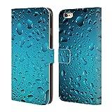 Head Case Designs Offizielle PLdesign Blau Wasser Brieftasche Handyhülle aus Leder für iPhone 6 Plus/iPhone 6s Plus